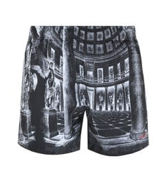 BOSS Bodywear Moa Museum Print Grey Swim Shorts