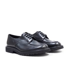 Tricker's Kilsby Handsewn Olivvia Leather Black Derby Shoes