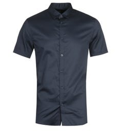Armani Exchange Short Sleeve Navy Shirt