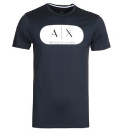 Armani Exchange Logo Navy T-Shirt