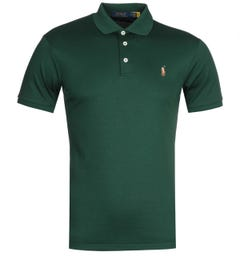 Polo Ralph Lauren Slim Fit Green Pima Polo Shirt