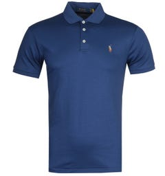Polo Ralph Lauren Slim Fit Navy Pima Polo Shirt