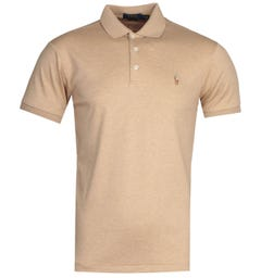 Polo Ralph Lauren Slim Fit Beige Pima Polo Shirt