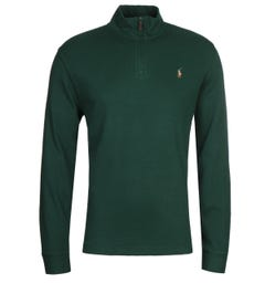 Polo Ralph Lauren Green Quarter Zip Sweater