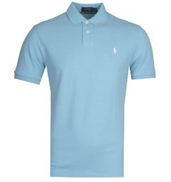 Polo Ralph Lauren Basic Mesh Sky Blue Polo Shirt