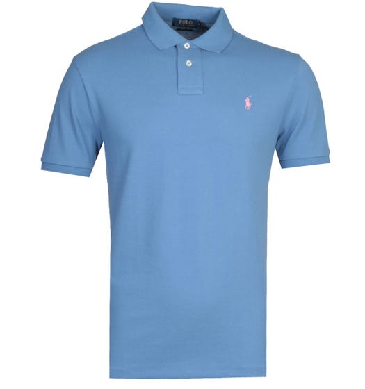 Polo Ralph Lauren Basic Mesh Blue Polo Shirt