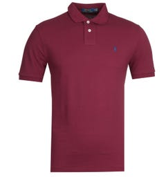 Polo Ralph Lauren Basic Mesh Burgundy Polo Shirt