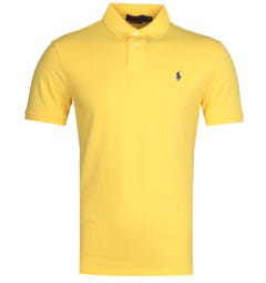 Polo Ralph Lauren Basic Mesh Yellow Polo Shirt