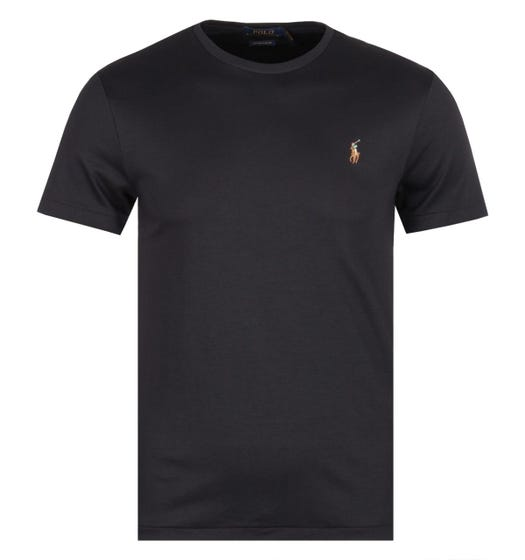 Polo Ralph Lauren Custom Slim Fit Black Pima T-Shirt
