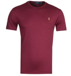 Polo Ralph Lauren Custom Slim Fit Red Pima T-Shirt