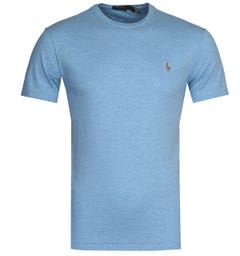 Polo Ralph Lauren Custom Slim Fit Sky Blue Pima T-Shirt