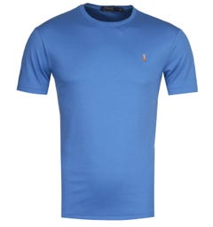 Polo Ralph Lauren Custom Slim Fit Blue Pima T-Shirt