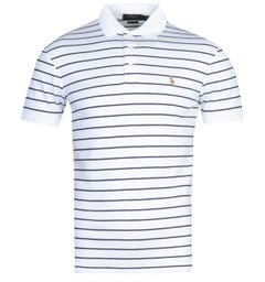 Polo Ralph Lauren Stripe White Pima Polo Shirt