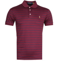 Polo Ralph Lauren Stripe Burgundy Pima Polo Shirt