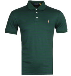 Polo Ralph Lauren Stripe Green Pima Polo Shirt