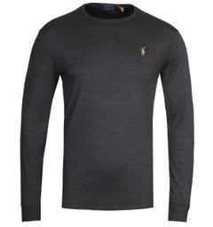 Polo Ralph Lauren Long Sleeve Grey Pima T-Shirt