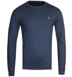 Polo Ralph Lauren Long Sleeve Navy Pima T-Shirt