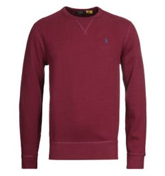 Polo Ralph Lauren Crew Neck Wine Sweatshirt