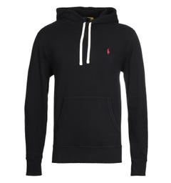 Polo Ralph Lauren Classic Popover Black Hooded Sweatshirt