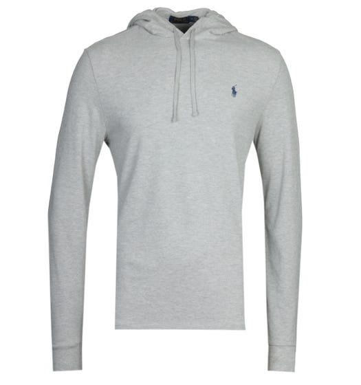 Polo Ralph Lauren Grey Pique Hooded Sweatshirt