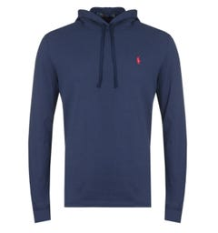 Polo Ralph Lauren Navy Pique Hooded Sweatshirt