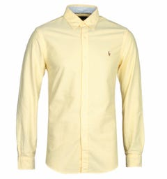 Polo Ralph Lauren Yellow Slim Fit Oxford Shirt