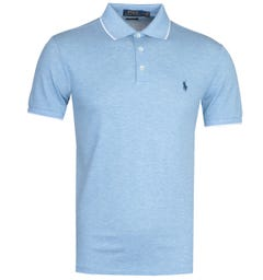 Polo Ralph Lauren Tipped Mesh Blue Polo Shirt