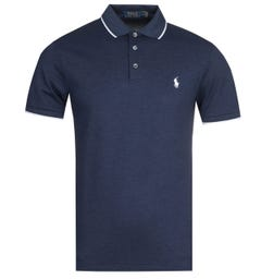 Polo Ralph Lauren Tipped Mesh Navy Polo Shirt