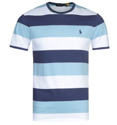 Polo Ralph Lauren Blue Stripe Slim Fit T-Shirt