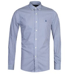 Polo Ralph Lauren Slim Fit Blue Stripe Shirt
