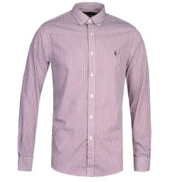 Polo Ralph Lauren Slim Fit Red Stripe Shirt