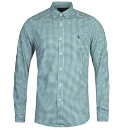 Polo Ralph Lauren Slim Fit Green Gingham Shirt