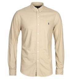 Polo Ralph Lauren Garment Dyed Brown Oxford Shirt