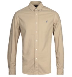 Polo Ralph Lauren Brown Custom Fit Oxford Shirt