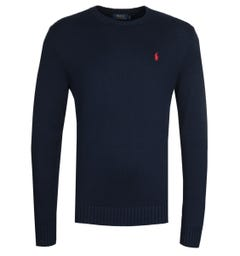 Polo Ralph Lauren Cotton Shaker Navy Sweater