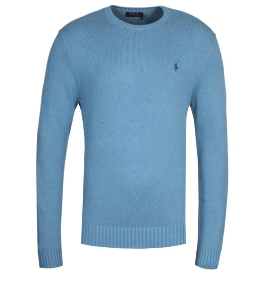 Polo Ralph Lauren Cotton Shaker Blue Sweater
