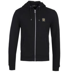 Belstaff Full Zip-Through Black Hoodie
