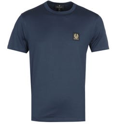 Belstaff Short Sleeve Navy Logo T-Shirt