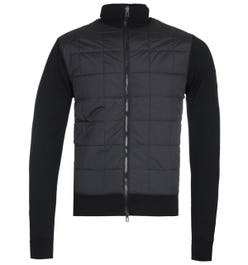 Belstaff New Kelby Merino Wool Black Zip Cardigan