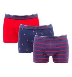 Polo Ralph Lauren 3 Pack Navy & Red Boxer Trunks