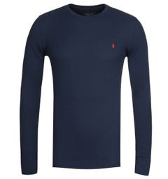 Polo Ralph Lauren Waffle Navy Long Sleeve T-Shirt