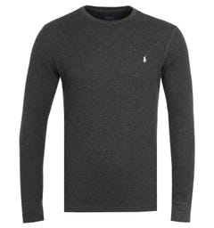 Polo Ralph Lauren Waffle Charcoal Long Sleeve T-Shirt