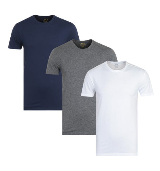 Polo Ralph Lauren 3 Pack Multi Short Sleeve Crew Neck T-Shirts