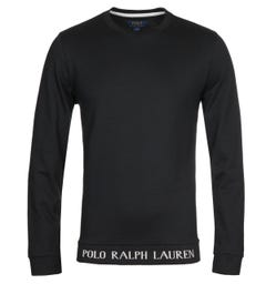 Polo Ralph Lauren Script Black Sweatshirt