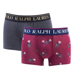 Polo Ralph Lauren 2 Pack Charcoal & Bears Boxer Trunks