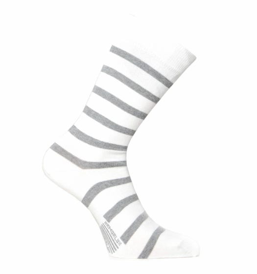 Armor Lux Chaussettes White Stripe Socks