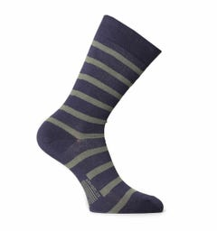 Armor Lux Chaussettes Navy & Green Stripe Socks
