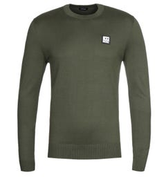 Diesel K-Freex B Crew Neck Sweater - Khaki