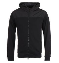 Paul & Shark Organic Cotton Panel Black Hooded Sweatshirt