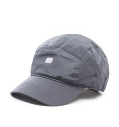 CP Company Dark Grey Chrome Five Panel Cap